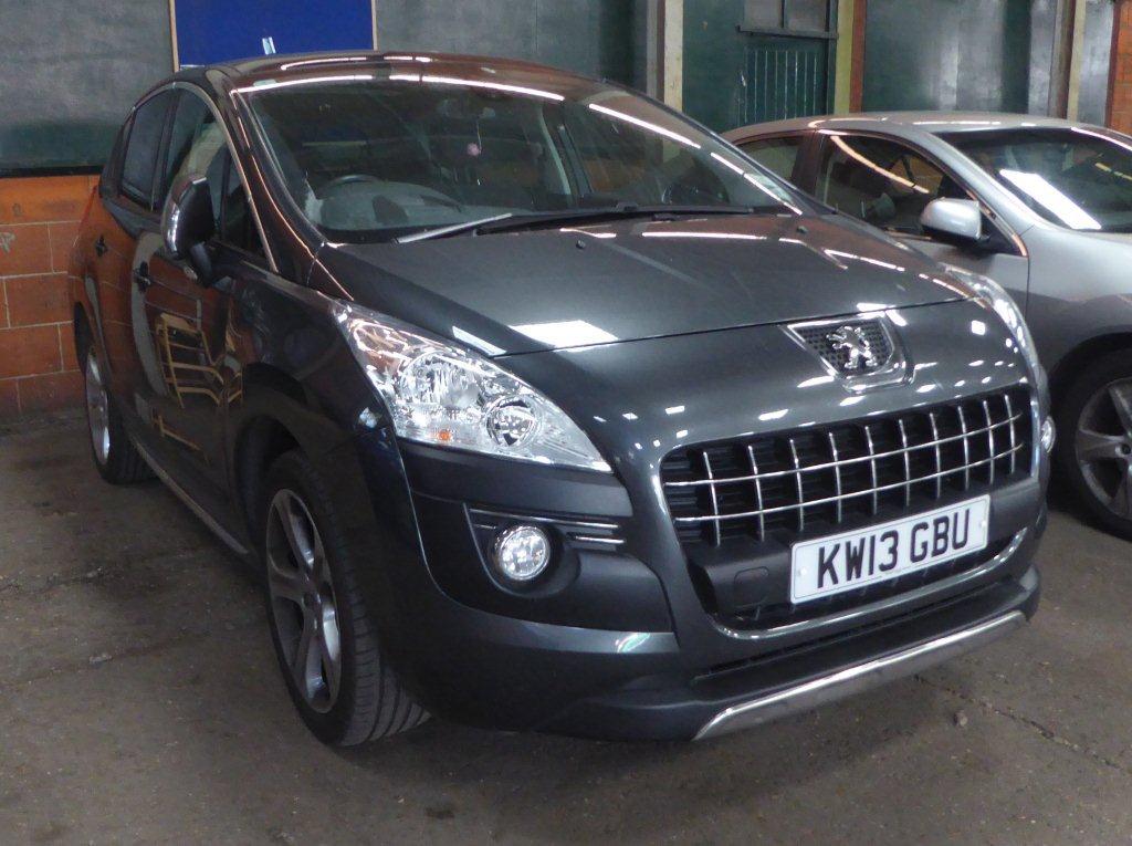 Lot 1503 (1) - 2013 Peugeot 3008 Allure HDI, 5 door hatchback, 1560cc, diesel, manual, MOT expires 30th June 2017, 36,953 miles, V5 & keys available, registration no. KW13 GBU