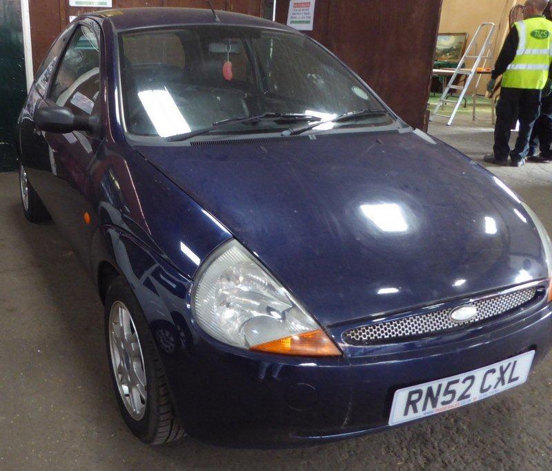 Lot 1502 (1) - 2003 Ford KA 3 door hatchback, 1299cc, petrol, manual, blue, 64,555 miles, V5 & key available, registration no. RN52 CXL