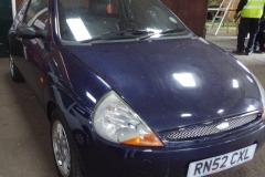 Lot 1502 (1) - 2003 Ford KA 3 door hatchback, 1299cc, petrol, manual, blue, 64,555 miles, V5 & key available, registration no. RN52 CXL