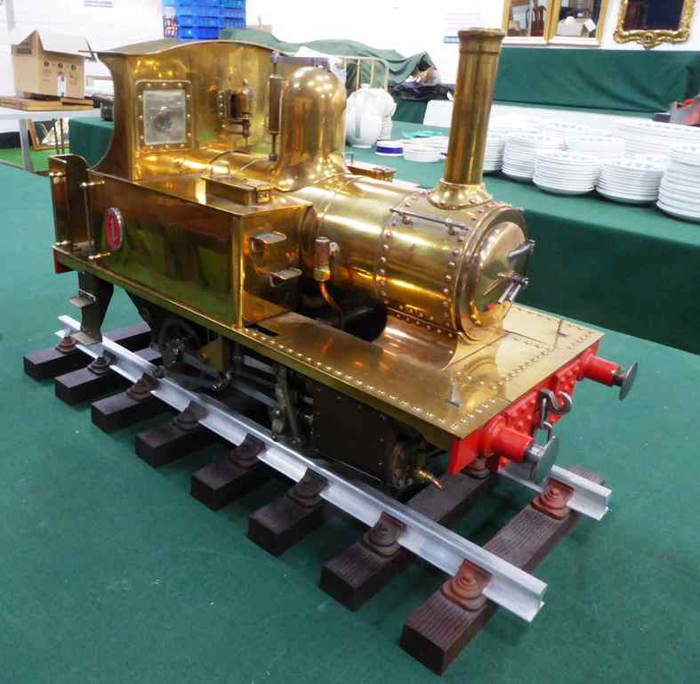 Lot 544 (1) - 3.5 inch gauge LSBC 'Tich' model steam engine in brass