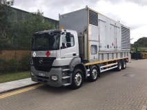 Mercedes Axor with 750 kva diesel generator on board