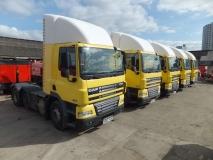5 no DAF CF85.410 6x2 midlift tractor units all 2012