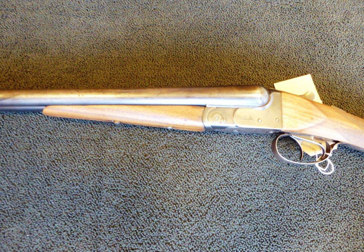 BSA side by side 12 bore shotgun (2)