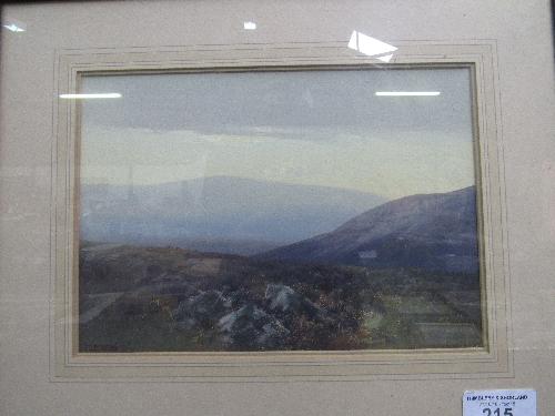 Lot 215 - Framed & glazed watercolour of moorland scene, signed bottom left F J Widgery (1861-1942)