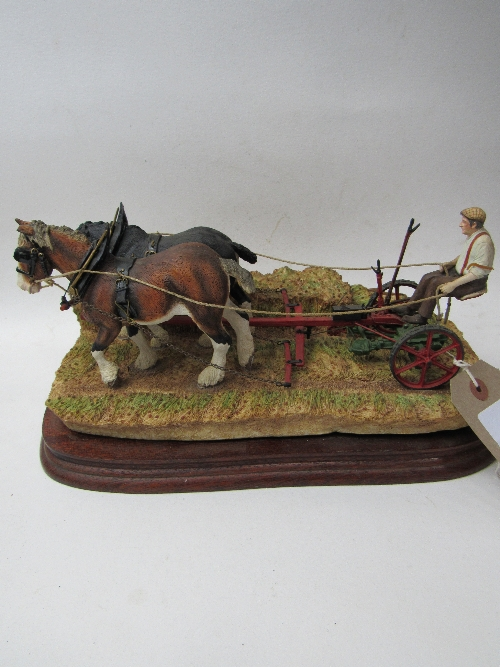 Lot 306 - Border Fine Arts 'Hay Cutting Starts Today', Model B0405, limited edition 12 of 350. Golden Edition, certificate.