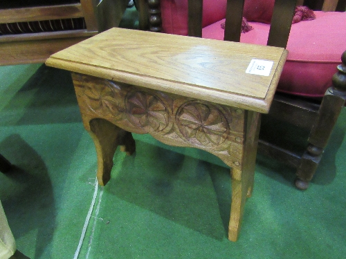 Lot 65 - English oak carved stool