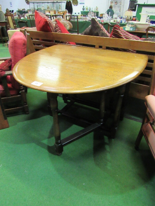 Lot 68 - Oak gate-leg drop-side table, 150cms (open) x 105cms x 75cms