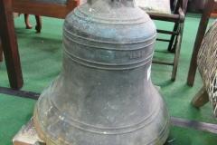 Lot 125 - Large brass ship's bell, 1840, approx 48cms high x 50cms diameter