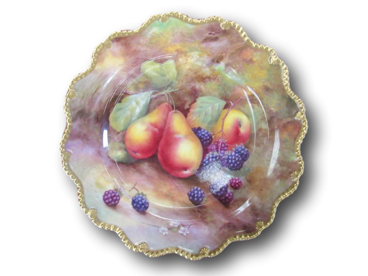 Royal Worcester plate, hand painted by Horace Price