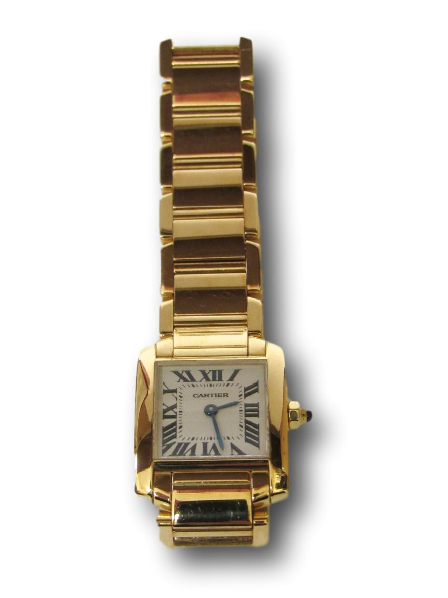 Cartier Tank Francaise 18K gold watch