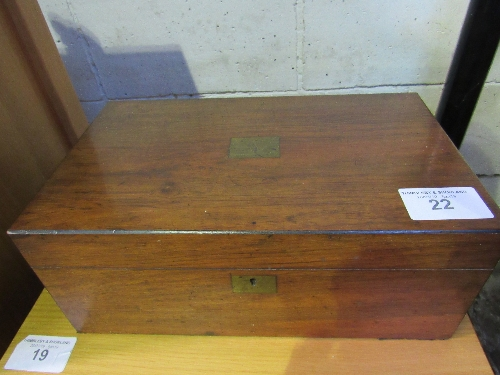 Lot 22 - Mahogany writing slope.