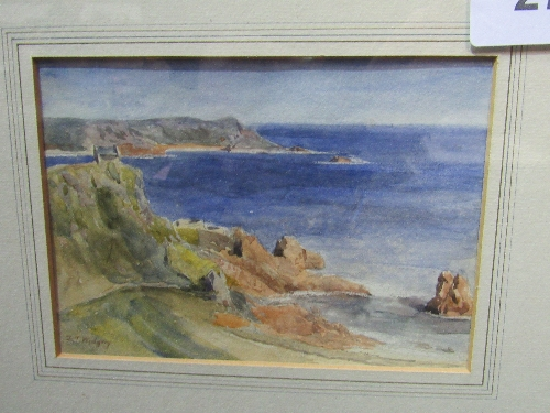 Lot 276 - Framed & glazed watercolour of coastal scene signed F J Widgery