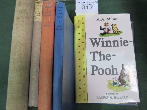 Lot 317 - A A Milne: A collection of 7 books by the author from the 1920's - 1970's