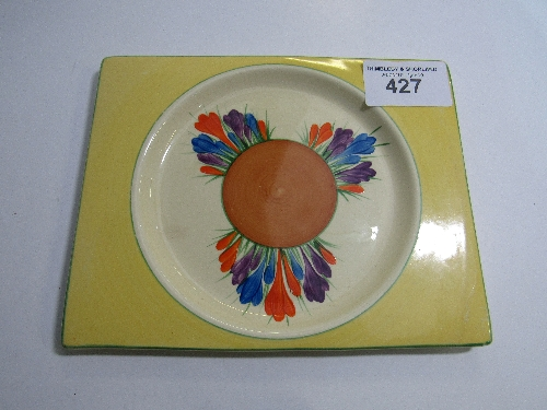 Lot 427 - Beautiful Clarice Cliff crocus plate marked and signed