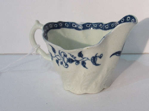 Lot 616 - 18th century Royal Worcester cream and blue jug