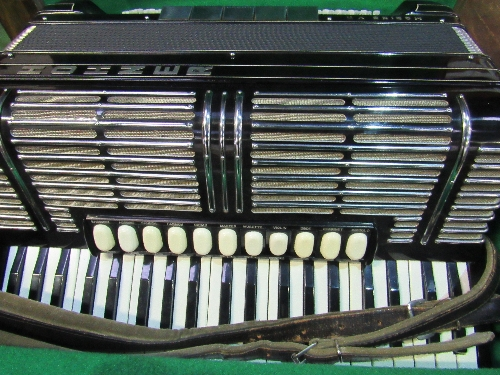 Lot 68 - Hohner Morino VN piano accordion in hard case