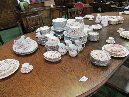 Lot 90 - Large quantity of Royal Crown Derby 'Rougemont' dinnerware & quantity of matching china made in Hong Kong