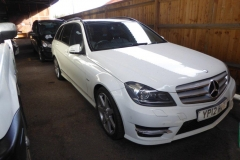 Lot 1501 - 2012 Mercedes C220 Sport CDI Estate, 2143cc, diesel, automatic, white, 117,643 miles.  Key available.  There is no V5 with this vehicle.  Registration no. YP12 HVK