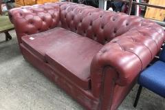 Lot 1370 - Leather Sofa