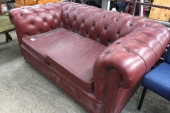 Lot 1370 - Leather Sofa