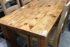 Lot 1281 - Dining table and chairs
