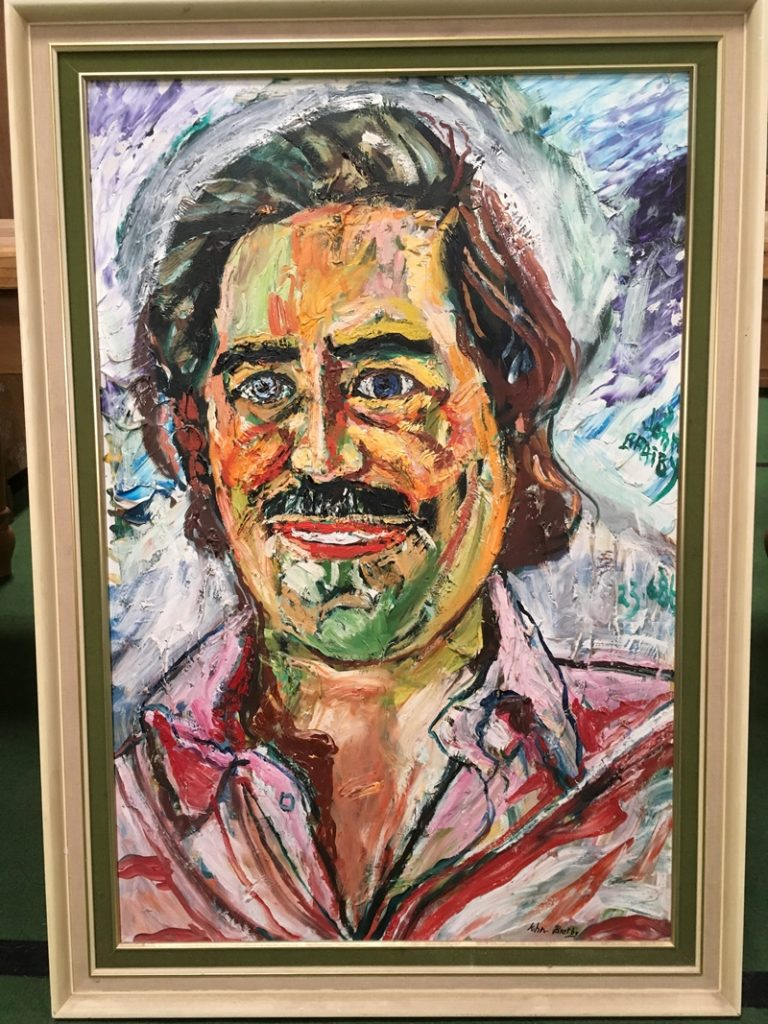 Oil on canvas portrait of Rupert Deen signed John Bratby RA (1928-1992) and dated 23.6.86