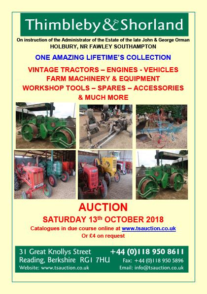 John & George Orman – Auction of Vintage Tractors, Vehicles
