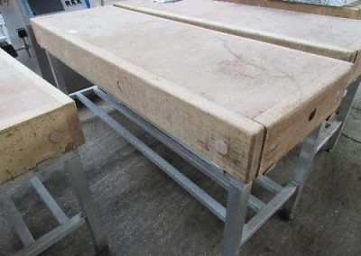 Lot 22 - Wooden cutting block, on stand