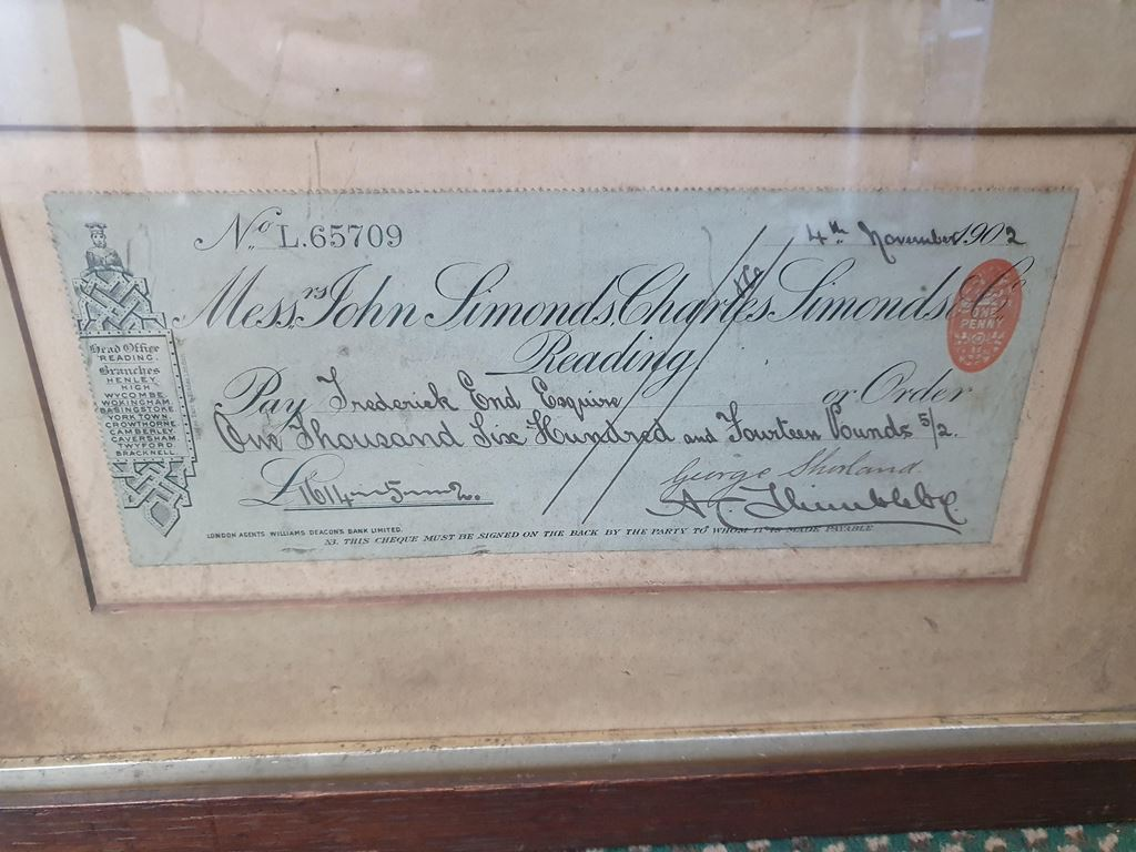 First T&S cheque - November 1902